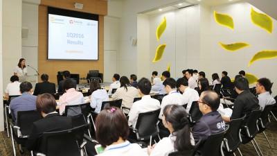 TMC ร่วมแสดงผลิตภัณฑ์ในงาน 1Q16 THCOM and CSL Analyst Meeting