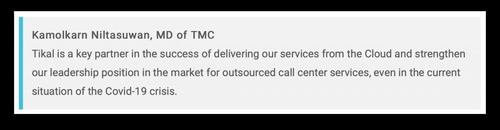 TMC Outsourced Contact Center ได้รับความสนใจจากสื่อต่างชาติ ถึงการปรับตัวในภาวะโควิด_1
